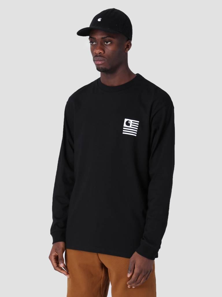 Carhartt WIP Carhartt WIP Longsleeve State Patch T-Shirt Black I026410
