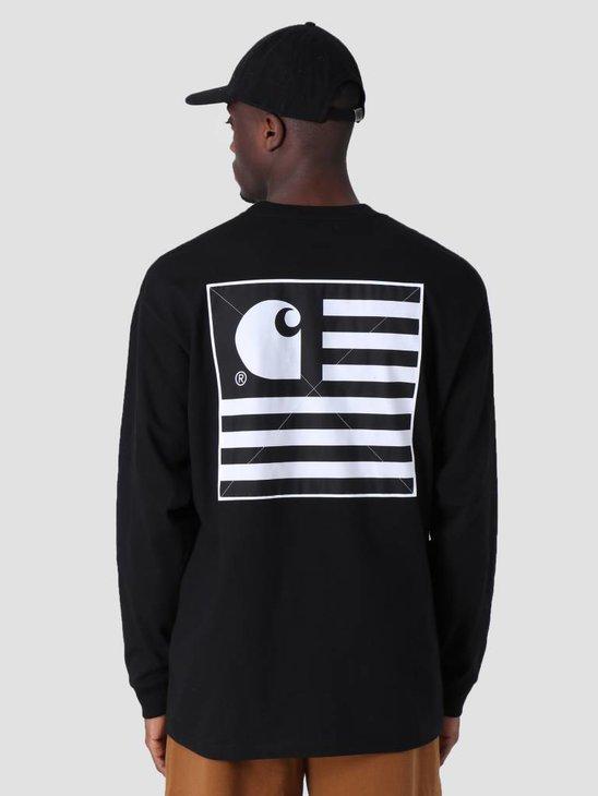 Carhartt WIP Longsleeve State Patch T-Shirt Black I026410