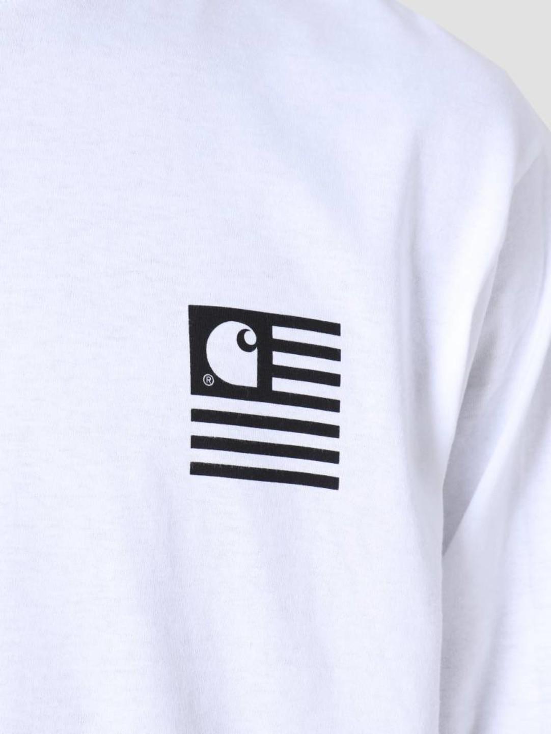 Carhartt WIP Carhartt WIP Longsleeve State Patch T-Shirt White I026410