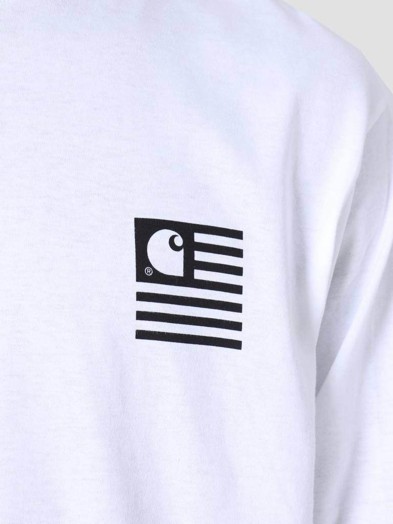 Carhartt Carhartt Longsleeve State Patch T-Shirt White I026410
