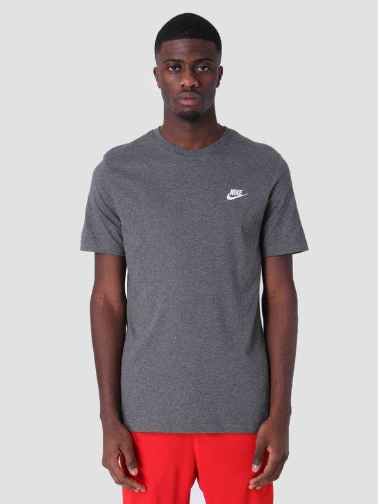 Nike Sportswear T-Shirt Charcoal Heathr White Ar4997-071