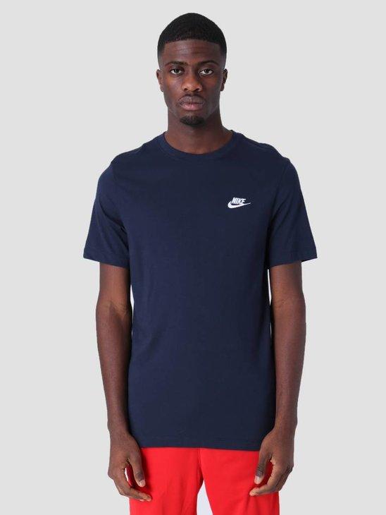 Nike Sportswear T-Shirt Obsidian White Ar4997-451