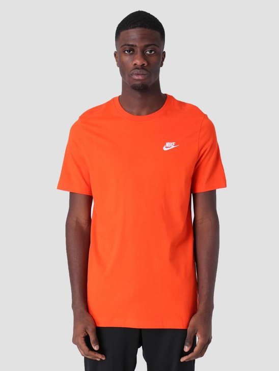 Nike Sportswear T-Shirt Team Orange White Ar4997-891