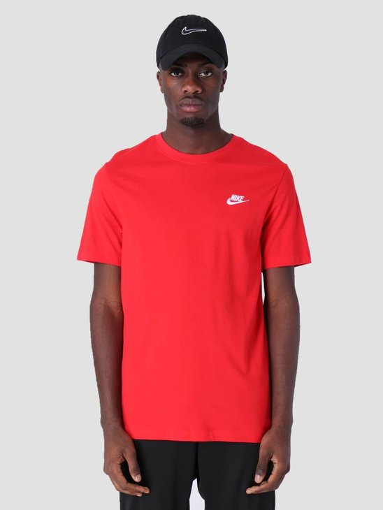 Nike Sportswear T-Shirt University Red White Ar4997-657