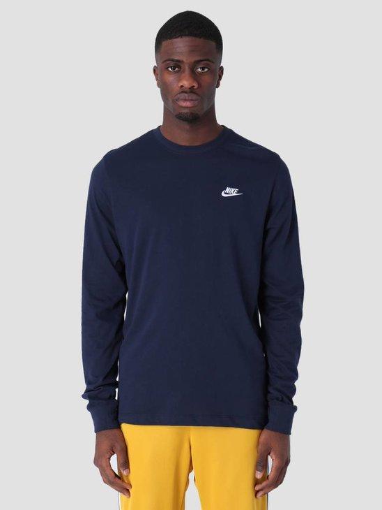 Nike Sportswear Longsleeve Obsidian White Ar5193-451