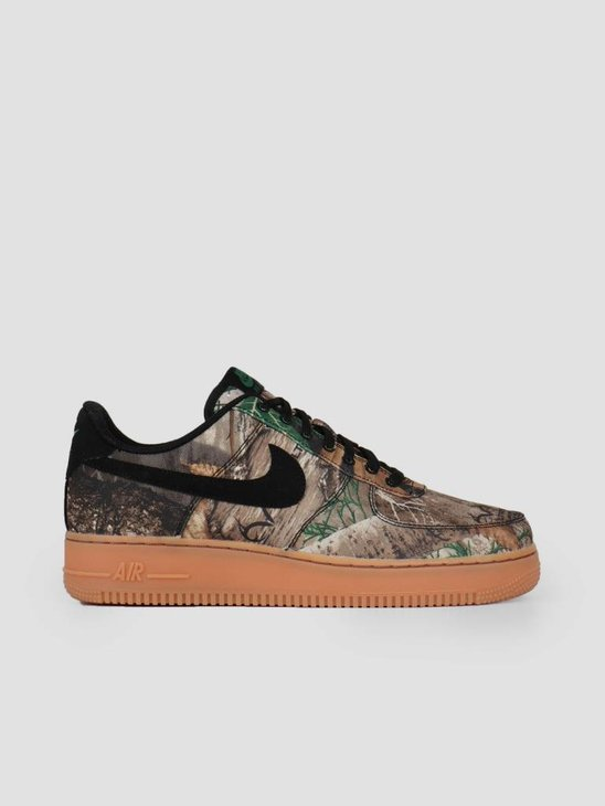 Nike Air Force 1 '07 Lv8 3 Black Black-Aloe Verde-Gum Med Brown Ao2441-001