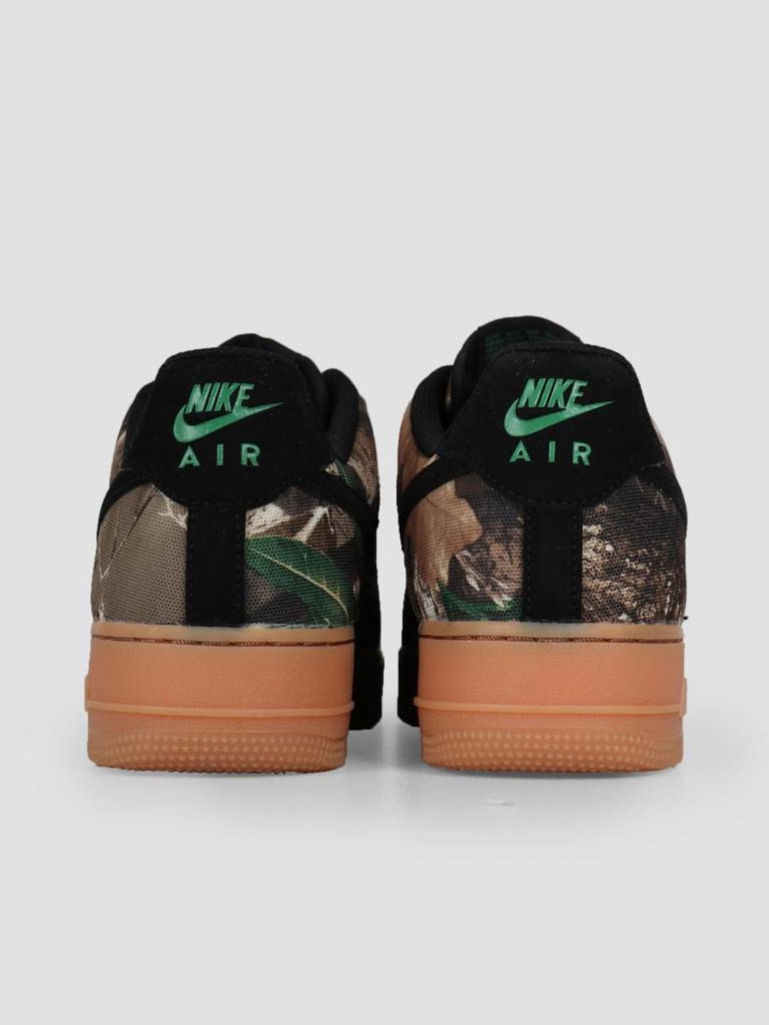 Nike Nike Air Force 1 '07 Lv8 3 Black Black-Aloe Verde-Gum Med Brown Ao2441-001