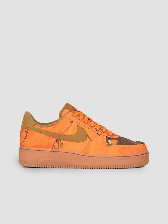 Nike Air Force 1 '07 Lv8 3 Orange Blaze Wheat-Gum Med Brown Ao2441-800
