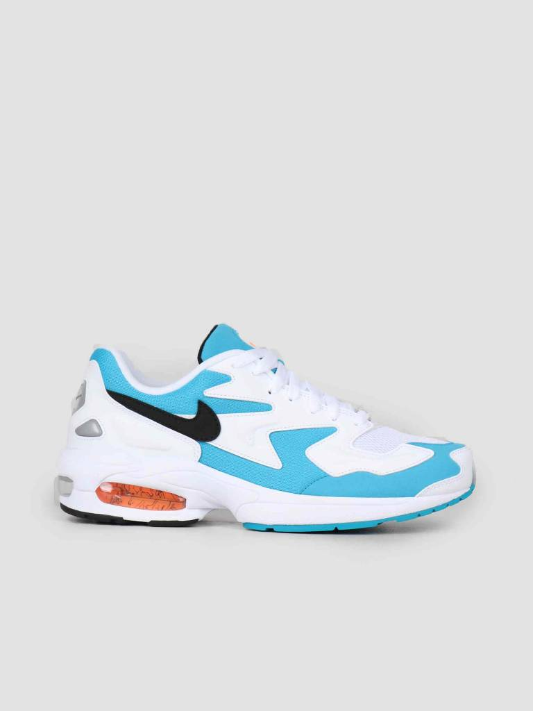 new style 6d877 7d8cb Nike Nike Air Max2 Light White Black-Blue Lagoon-Laser Orange Ao1741-100