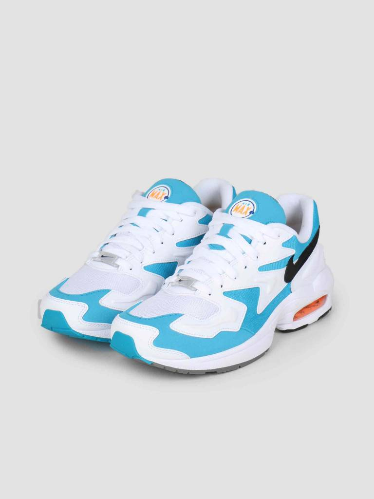 Nike Nike Air Max2 Light White Black-Blue Lagoon-Laser Orange Ao1741-100