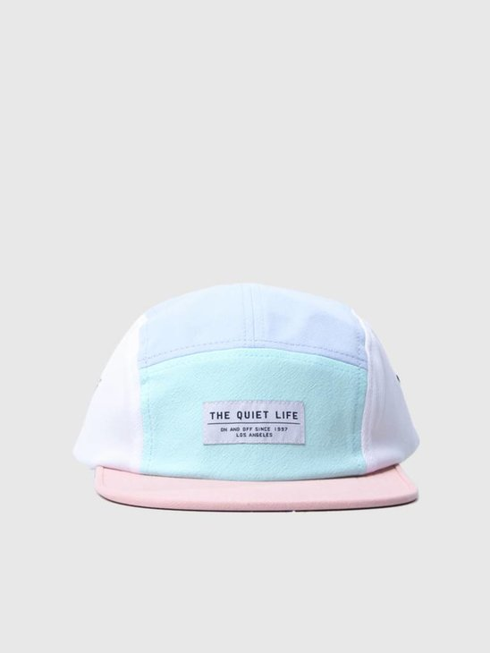4a465570d19b3 The Quiet Life Boardwalk 5-Panel Camper Hat Periwinkle Mint Peach  18SPD2-2132 ...