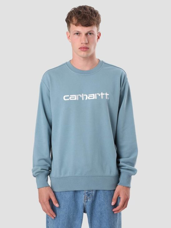 Carhartt WIP Sweater Dusty Blue Wax I024679-97590