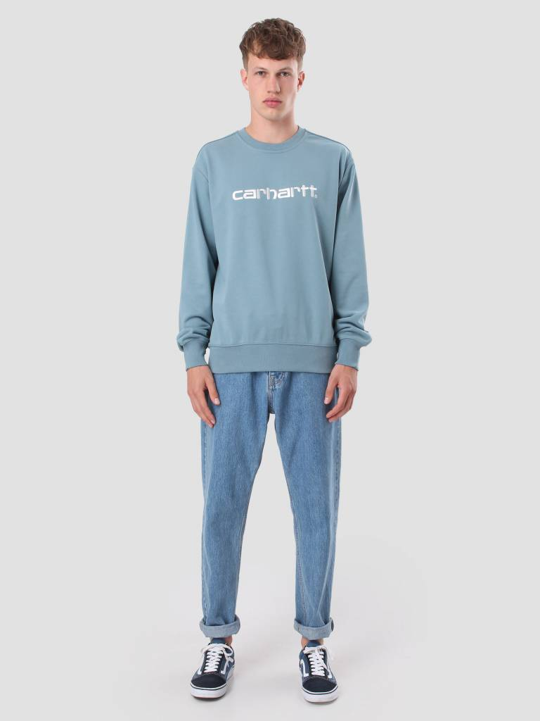 b20d1d1772 Carhartt WIP Carhartt WIP Sweater Dusty Blue Wax I024679-97590