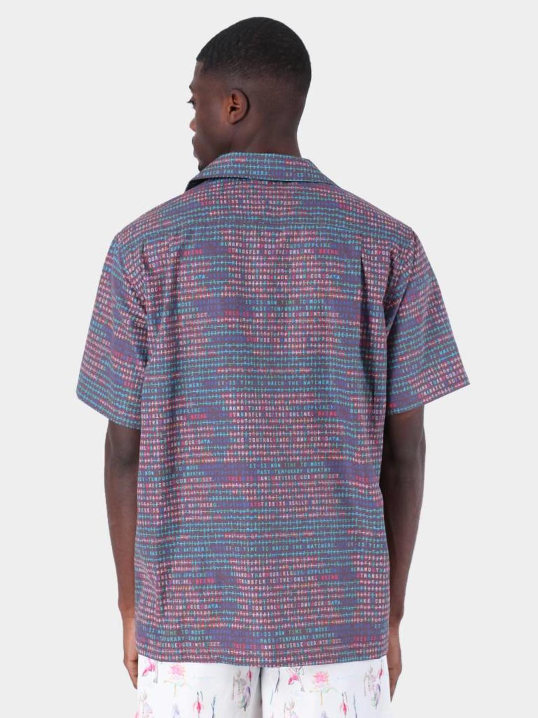 Daily Paper Daily Paper Fetrans Shirt Aop Encrypted Black 19S1SH08-02