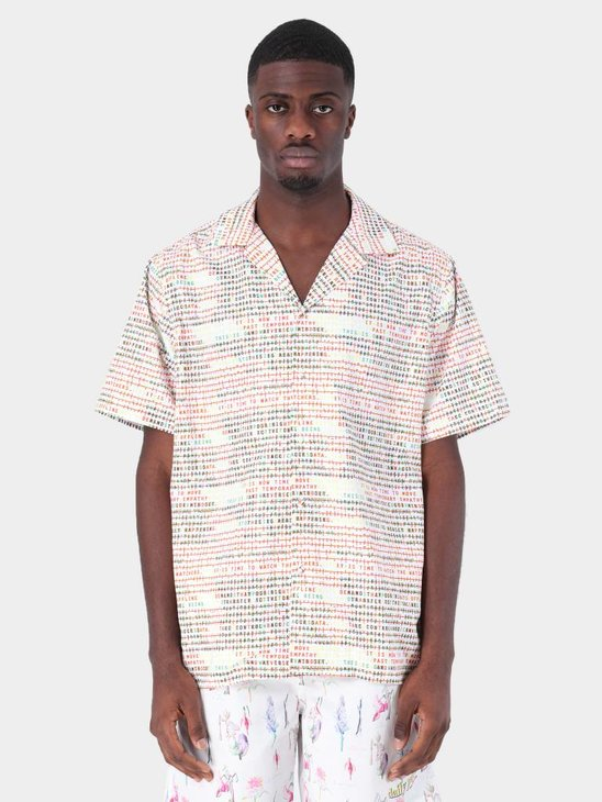 Daily Paper Fetrans Shirt Aop Encrypted White 19S1SH08-01
