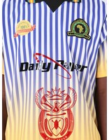 Daily Paper Daily Paper Football 1 Jersey Purple White Yellow Stripe 19S1TO09-01