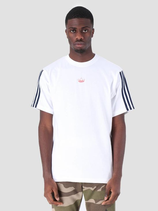 adidas Floating T-Shirt White Conavy DV3260