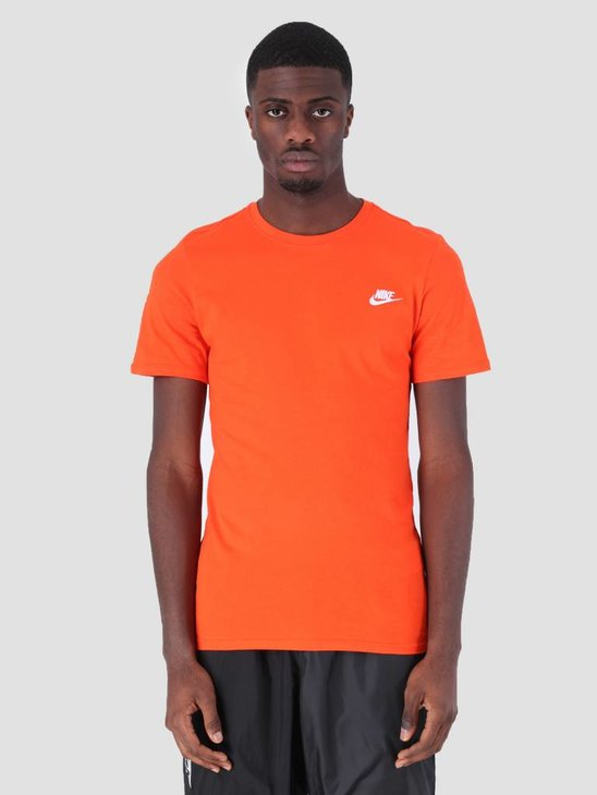 Nike Sportswear T-Shirt Team Orange White 827021-891