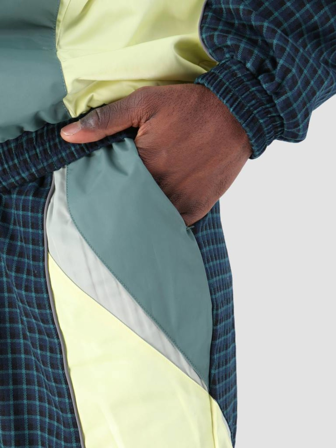 Daily Paper Daily Paper Fuka Pant Blue Check Light Yellow Light Green 19S1PA11-01