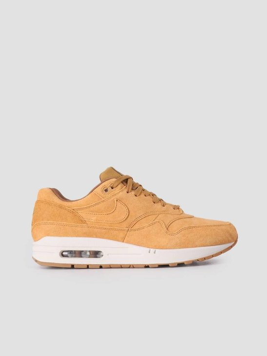 Nike Air Max 1 Premium Shoe Wheat Wheat Light Bone Gum Med Brown 875844-701
