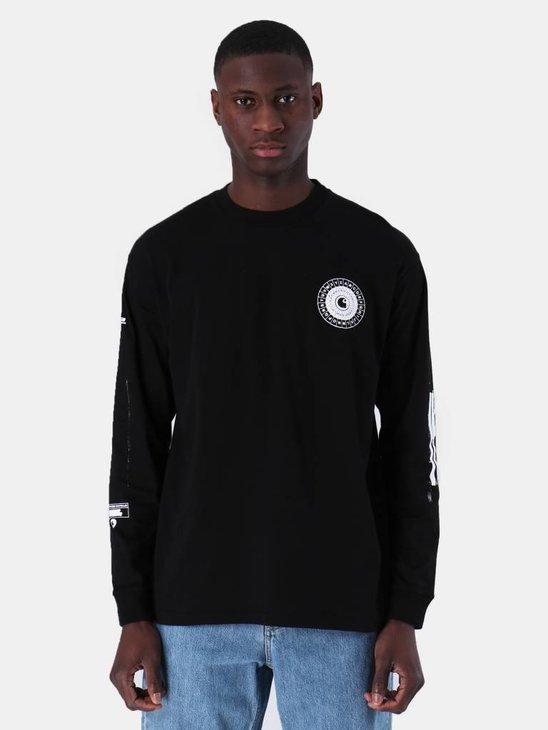 Carhartt WIP Longsleeve Confidential T-Shirt Black White I026422