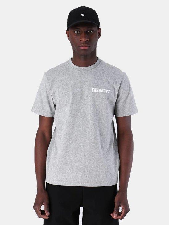 Carhartt WIP College Script T-Shirt Grey Heather White I024806