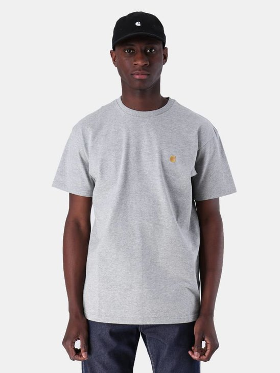 Carhartt WIP Chase T-Shirt Grey Heather Gold I026391