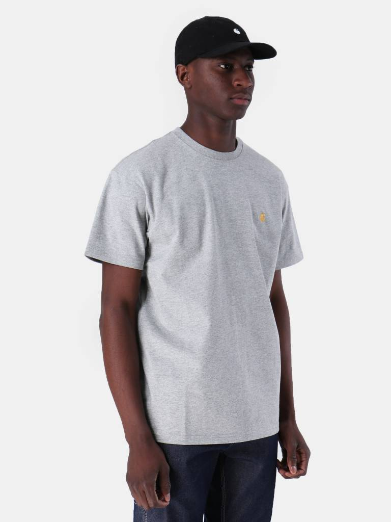 Carhartt WIP Carhartt WIP Chase T-Shirt Grey Heather Gold I026391