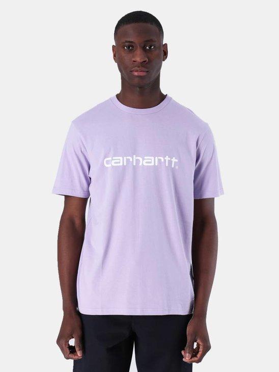 Carhartt WIP Script T-Shirt Soft Lavender White I023803