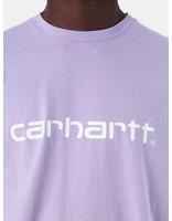 Carhartt WIP Carhartt WIP Script T-Shirt Soft Lavender White I023803
