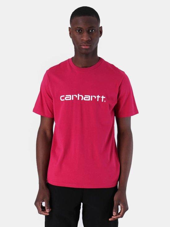 Carhartt WIP Script T-Shirt Tango White I023803