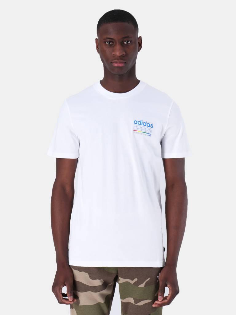 adidas adidas Dodson T-Shirt White Blue Green Rea DU8392