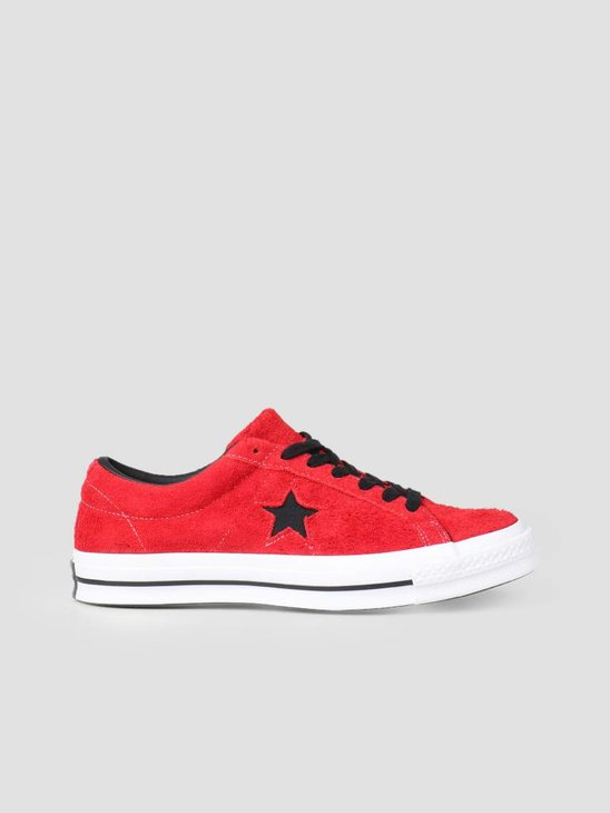 Converse One Star Ox Enamel Red Black White 163246C