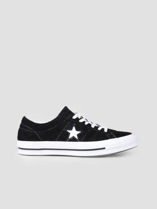 Converse One Star OX Black White White 158369C