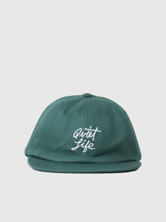 The Quiet Life Cursive Polo Hat Green 18FAD2-2186-GRN