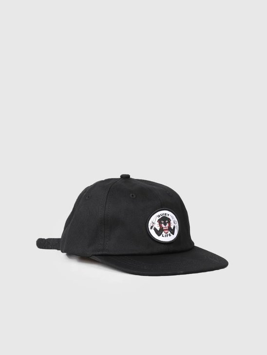 The Quiet Life Venom Panthe Polo Hat Black 18FAD2-2120-BLK