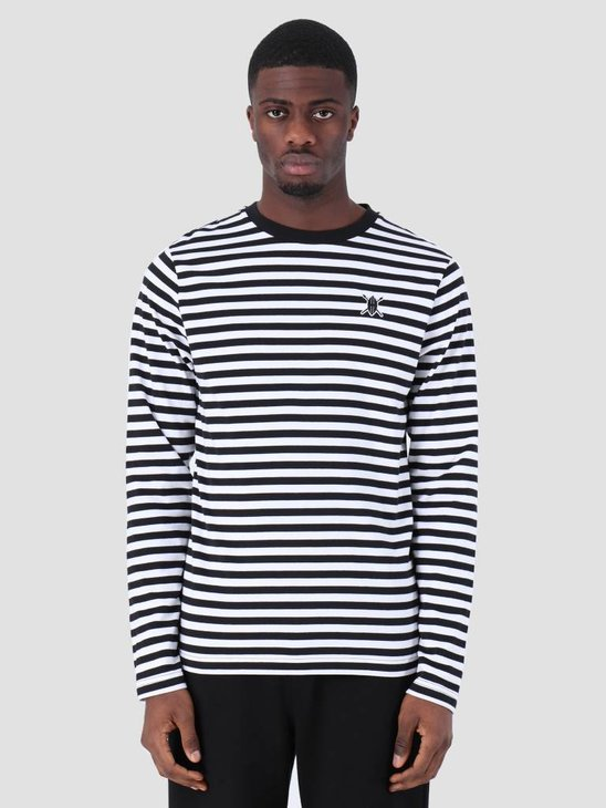 Daily Paper Essential Striped Longsleeve Black White 00N1LS01-01