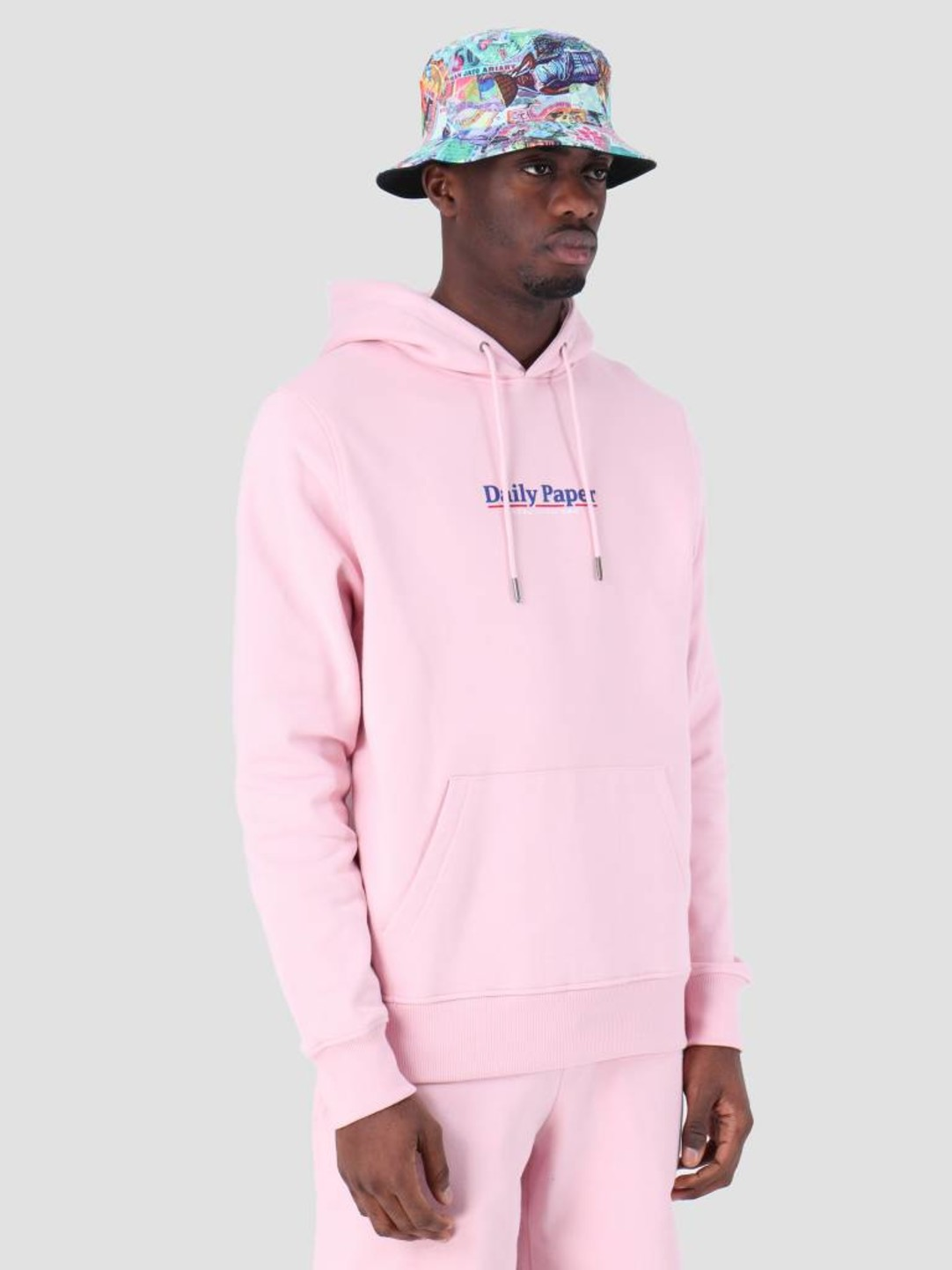 Daily Paper Daily Paper SS19 Essential Hoodie Light Pink 19S1HD08-04