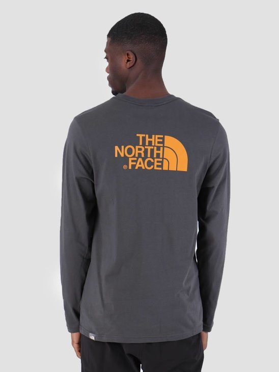 The North Face Easy Longsleeve Asphgy Citrinyw T92TX1LCW