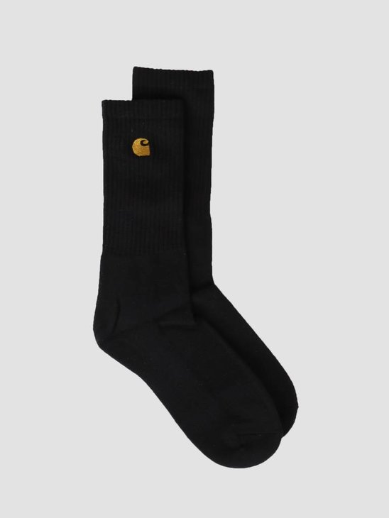 Carhartt WIP Chase Socks Black Gold