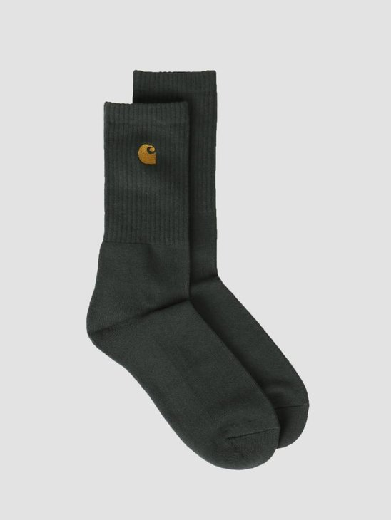 Carhartt WIP Chase Socks Bottle Green Gold I026527