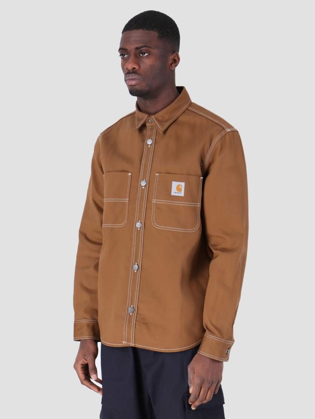 Carhartt WIP Carhartt WIP Chalk Shirt Jac Rigid Hamilton Brown I025939-HZ01