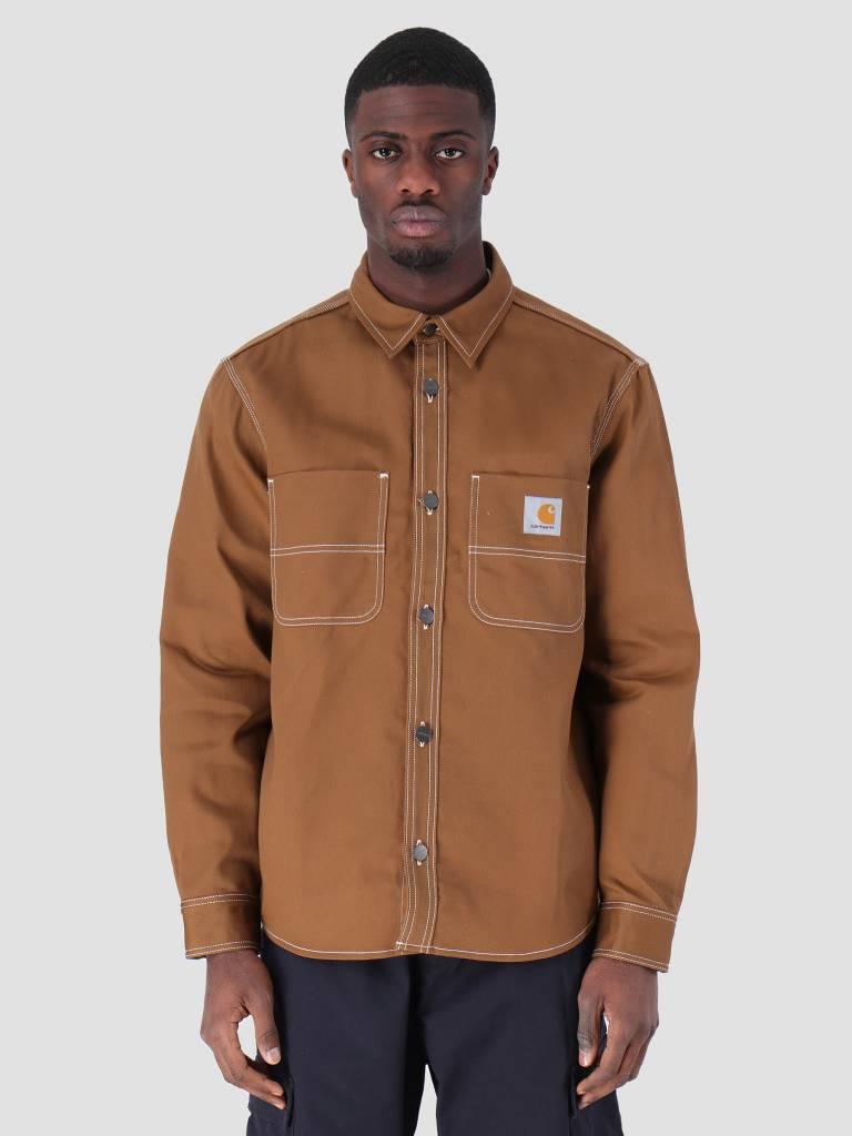 5cc6898f6ff Carhartt WIP Chalk Shirt Jac Rigid Hamilton Brown I025939-HZ01