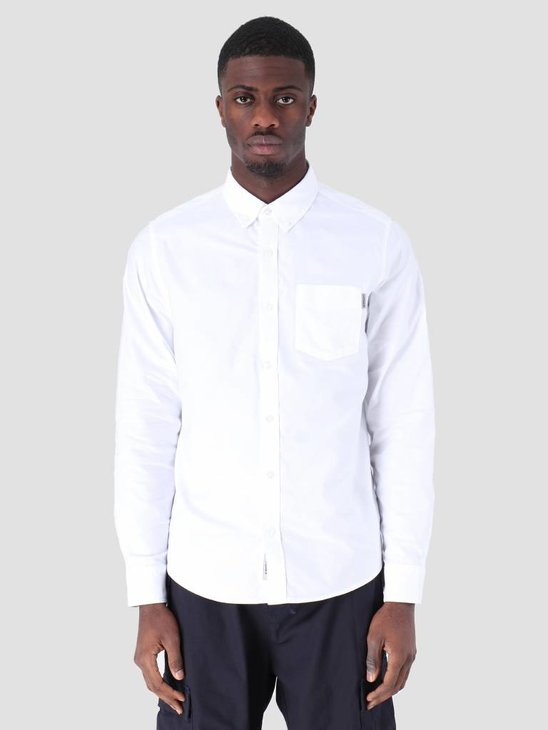 Carhartt WIP Longsleeve Button Down Pocket Shirt White I022069