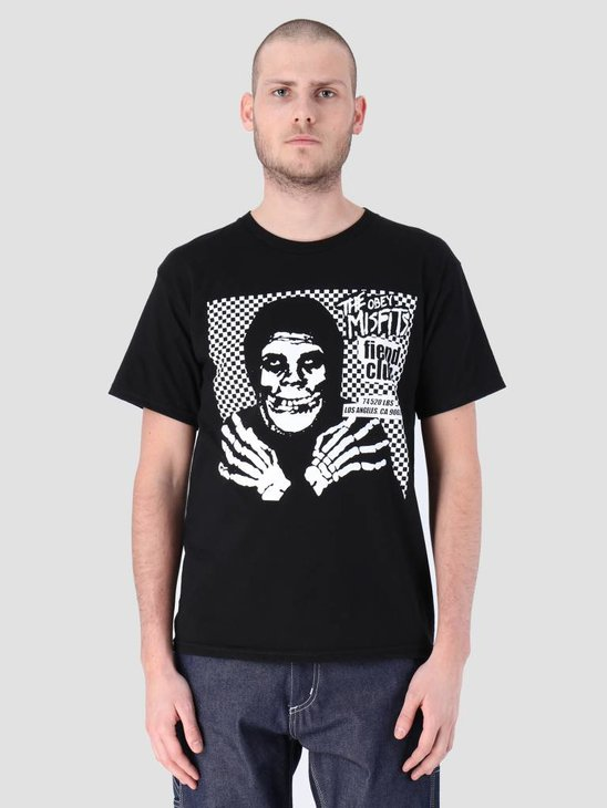 Obey Misfits Fiend Club Hallow Basic T-Shirt Black 163082055