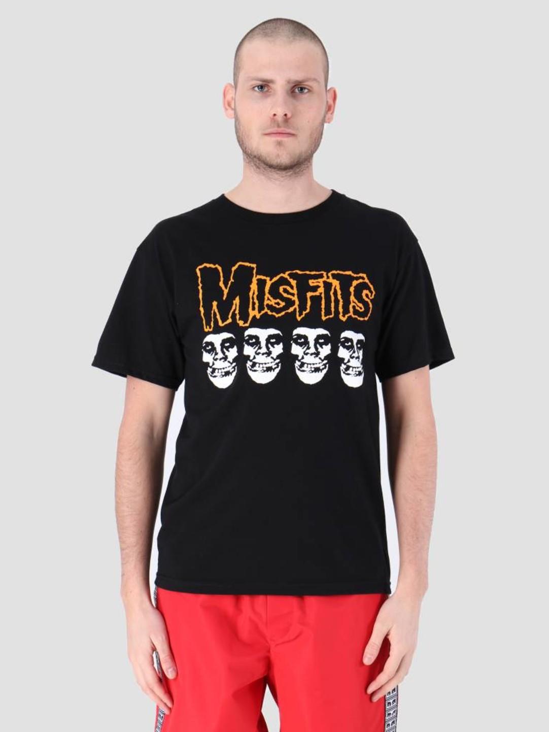 Obey Obey Misfits Fiend Skulls T-Shirt Black 163082053