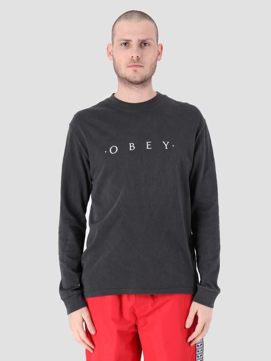 Obey Novel Obey Longsleeve T-shirt Dusty Black 166731578 Dba