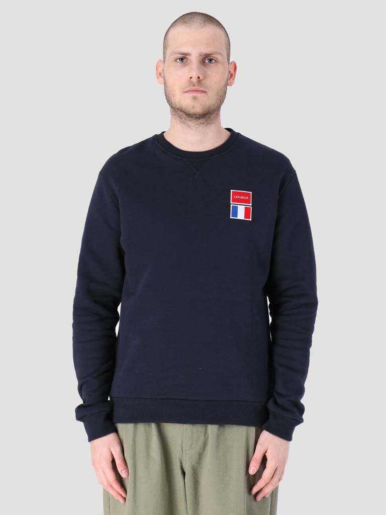 Les Deux Les Deux National Sweatshirt Dark Navy LDM200032