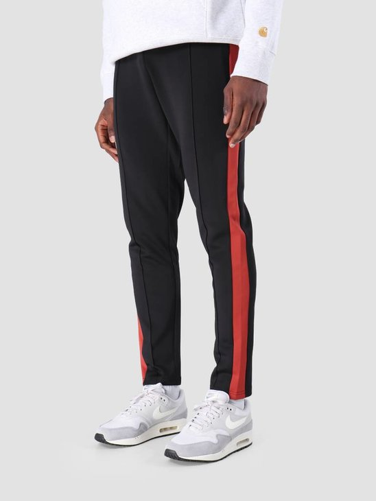 Les Deux Hermite Track Pants Black Brick Red LDM530002