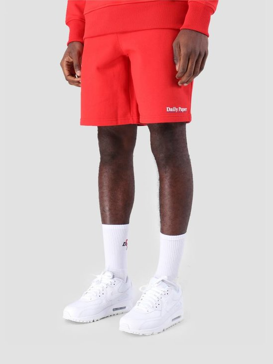 Daily Paper SS19 Essential Fleece Short Red 19S1SH07-01